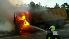 Denizli'deki kamyon, bomba gibi patladı
