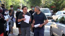 Beykoz'da baba ve oğul aynı okulda sınava girdi