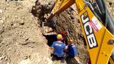 Bursa'da kazı çalışmasında toprak kayması sonucu mahsur kalan işçi kurtarıldı