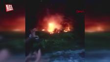 Arnavutköy'de atılan havai fişek orman yangınına neden oldu