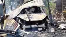 Bursa yeni aldığı otomobil yanarak küle döndü