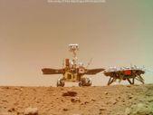 Çin, uzay aracı Zhurong'un Mars'a iniş yaptığı videoları yayımladı.