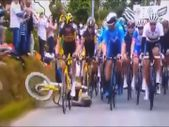 Fransa Bisiklet Turu'nda kaza