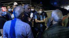 Sarıyer'de çöken binayı görmeyen gelen belediye başkanı Şükrü Genç'e tepki