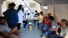 Yüksekova'da randevusuz aşı çadırı kuruldu