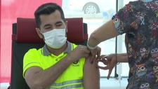 Ankara Yüksek Hızlı Tren Garı'nda koronavirüs aşılaması başladı