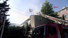 Beykoz'da 3 katlı binada yangın