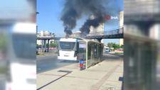 İzmir'de tam elektrikli yolcu otobüsünde yangın