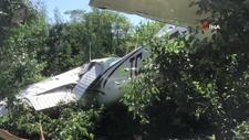 Bursa'da eğitim uçağı bahçeye zorunlu iniş yaptı
