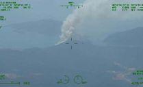 Marmaris'teki orman yangınını İHA tespit etti