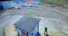 Bursa'da temizlik işçisi ormanlık alanda çıkan yangına sebep oldu