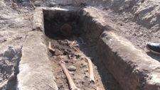 Adıyaman'da Bizans dönemine ait mezar ve insan iskeleti bulundu