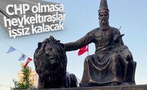 CHP'li Muratpaşa Belediyesi'nden Hacı Bektaş Veli heykeli