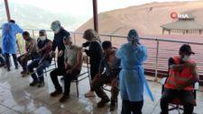 Amanos Dağı eteklerinde aşı mesaisi