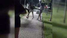 Küçükçekmece'de kızların tekme tokat kavgası