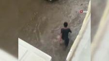 Edirne'de selde elektrik akımına kapılan genç kamerada