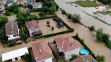 İstanbul Şile'de sağanak yağış nedeniyle su baskınları yaşandı