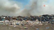 Çanakkale'de çöplükte çıkan yangına müdahale ediliyor