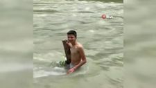 Sakarya'da arkadaşlarından helallik isteyerek girdiği nehirde kayboldu
