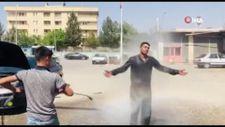 Şanlıurfa'da sıcaktan bunalan vatandaşlardan şaşırtan manzaralar