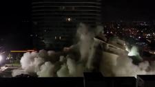 ABD'de bir kısmı çöken 13 katlı bina patlayıcılarla yıkıldı