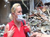 Sancaktepe'de yıkımda zarar gören bitişikteki binanın sakini isyan etti