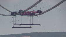 1915 Çanakkale Köprüsü inşaatında askı halatlarının montajına başlandı