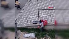 Niğde'de, Suriyeli çocukların Türk bayrağı hassasiyeti kamerada