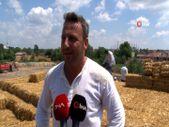 Edirne'de öğrencilerin ihtiyaçları için saman taşıdılar