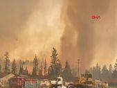 ABD'de orman yangını sırasında alev hortumu görüntülendi