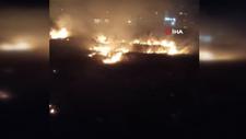 Bursa'da düğünde atılan havai fişek yangın çıkardı