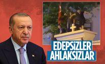Cumhurbaşkanı Erdoğan, kiliseye yapılan saygısızlığa tepki gösterdi