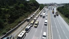 İstanbul'da minibüsçülerden kahyalık sistemine karşı eylem