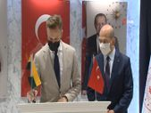 Bakan Soylu, Litvanya Dışişleri Bakanı Landsbergis ile bir araya geldi