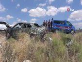 Aksaray'da takla atarak hurdaya dönen otomobilde 1'i bebek 3 kişi yaralandı