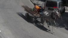 Bursa'da hırsızlar at arabasıyla kaçmaya çalıştı