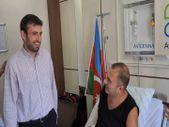 Selçuk Bayraktar, Karabağ gazisini ziyaret etti