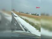 Van Erciş'e kar yağdı