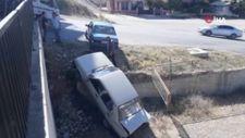 Antalya'da otomobilin el frenini çekmeyi unuttu