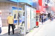 Beşiktaş'ta bulunan ters İETT durağı