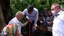 Murat Kurum, kayıp Batuhan Delihasan'ın babasını ve ağabeyini teselli etti