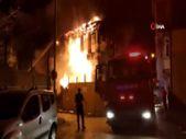 Bursa'da 2 katlı bina yandı