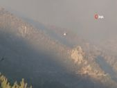 Mersin'de yangın söndürme çalışmaları devam ediyor