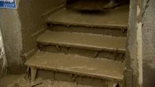 Avrupa'da sel sonrası çamur temizliği