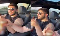 Murat Övüç'ün oğlu araba kullanırken alkol aldığı görüntüleri paylaştı