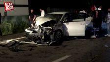 Bolu'da otomobil iş makinesine çarptı: 1 ölü 1 yaralı