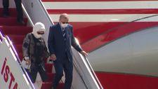 Cumhurbaşkanı Erdoğan, Kıbrıs'a indi