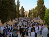 Bayram namazında on binlerce kişi Mescid-i Aksa'daydı