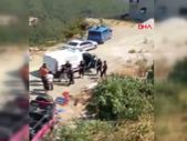 Antalya'da safari aracı şarampole yuvarlandı