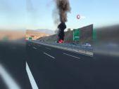 İzmir'de yolcu otobüsü yandı